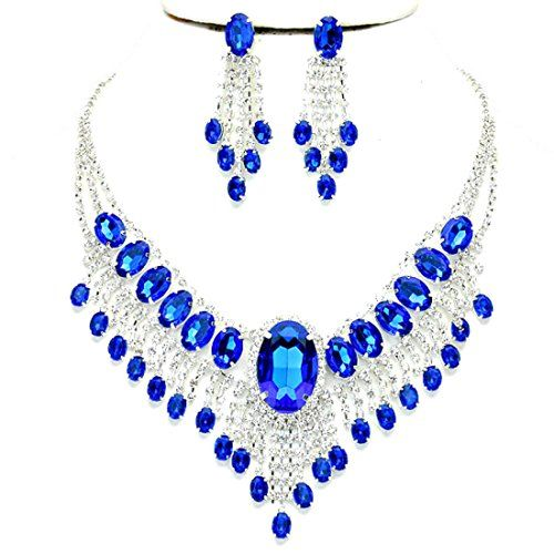 Affordable Wedding Jewelry Royal Blue Clear Rhinestone Ca... http://smile.amazon.com/dp/B016084V6E/ref=cm_sw_r_pi_dp_-YZpxb19DR9A3