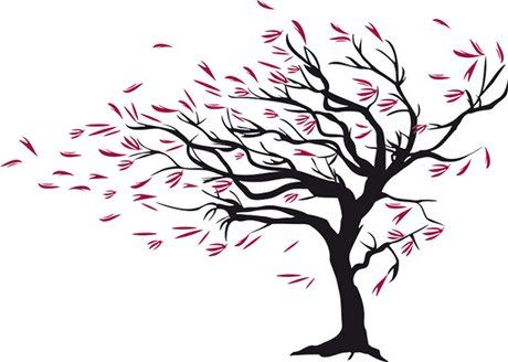 Second Life Marketplace - Wall Art - Tree with Red Leaves