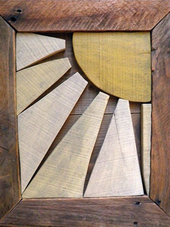 Pallet /reclaimed wood sunshine