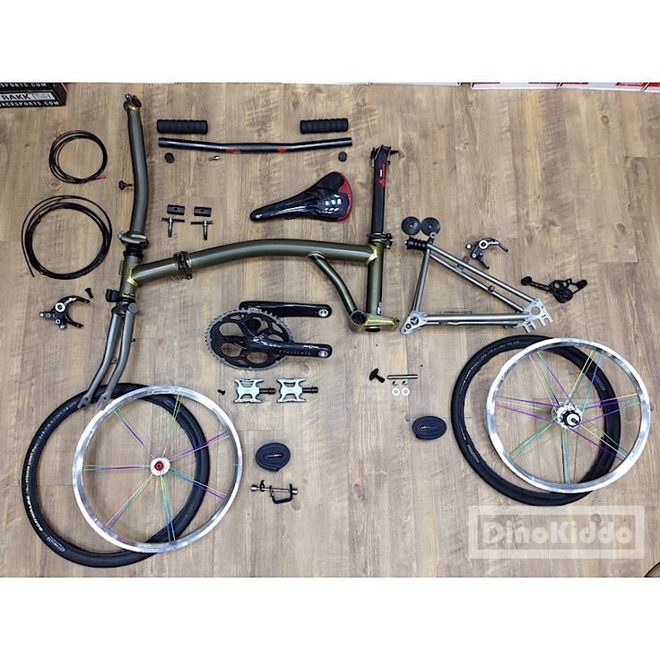 Super light weight single speed Brompton from Taiwan.