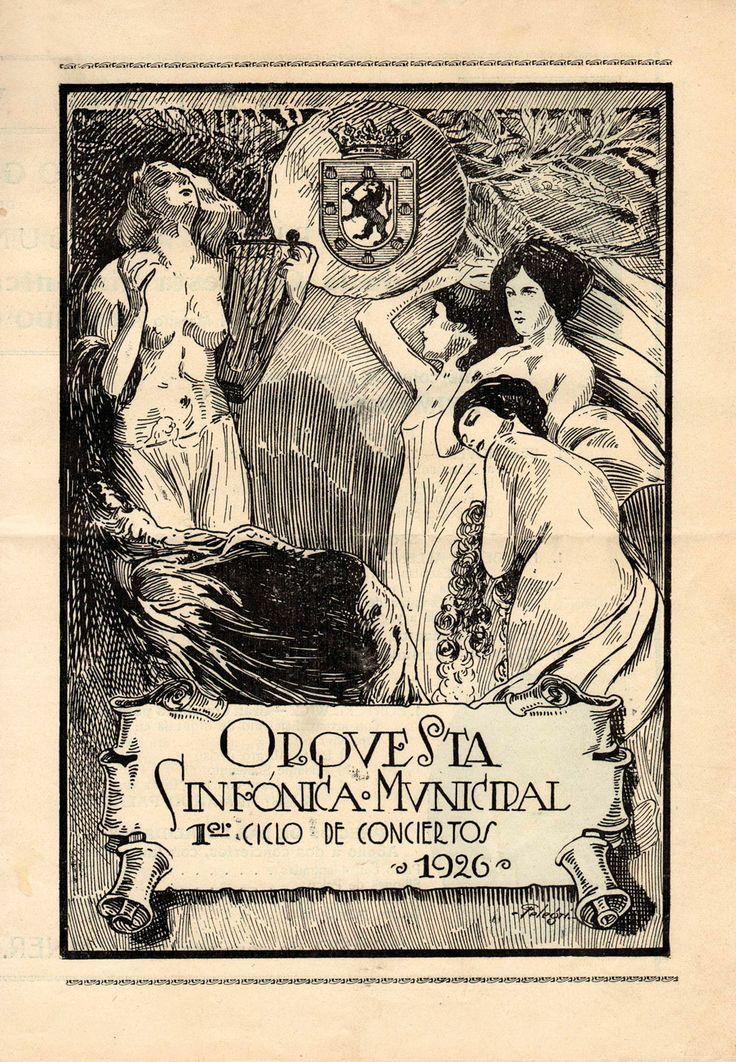 Programa del primer concierto que interpretó la Orquesta Sinfónica Municipal, en 1926.