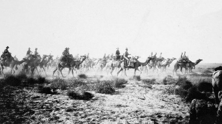 Australian Camel Corps at the battle of Beersheba. c.1917