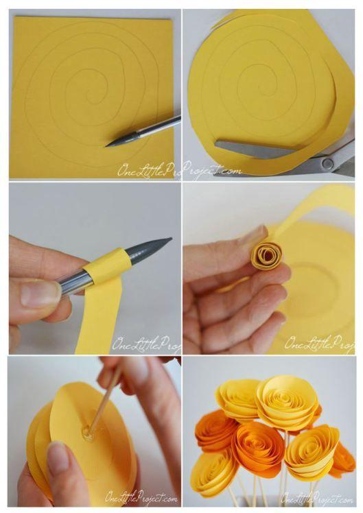 Flores de papel | Tarjetas Imprimibles