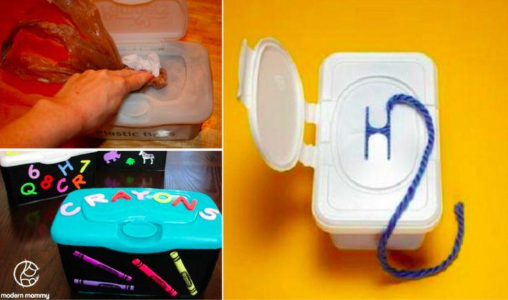 30 idées pour recycler les boîtes qui contiennent les lingettes pour bébé