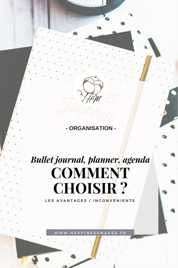 bullet journal planner agenda comment choisir avantages inconvénients