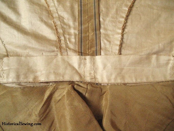 Waist Tape Wrangling - Inside Bodice Support | HistoricalSewing.com