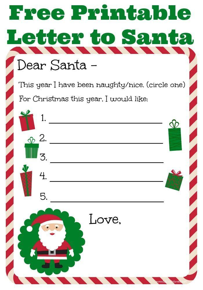 Letter From Santa Editable Template Instant Download Etsy Christmas Lettering Christmas Letter Template Free Christmas Letter Template