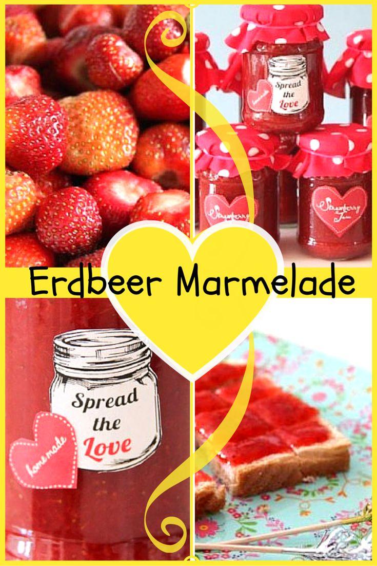 Erdbeermarmelade Thermomix Rezept ❤️ superfruchtig superschnell *** strawberry jam in 13 min