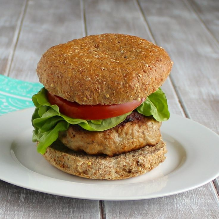These simple turkey burgers are the perfect base for any burger toppings you want. This low-fat healthy burgers will become a staple during the summer season.