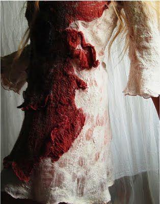 e c c o * e c o: Beneath The Surface Treatments  Nuno-felted dress by Vilte Kazlauskaite