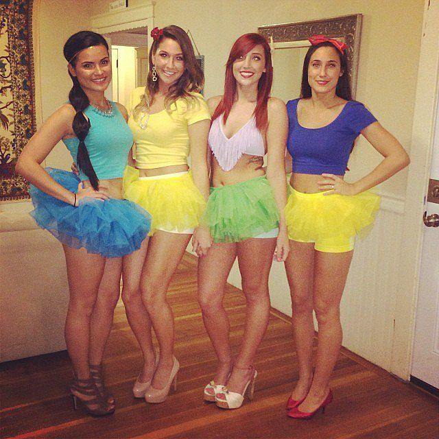 Halloween girl group costume idea: Sexy tutu Disney Princesses