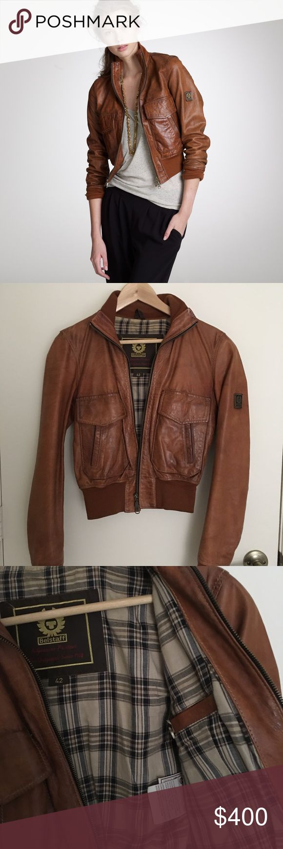 Leather Belstaff Jacket This jacket has been seldom worn but much loved. Unfortunately it's a bit to small for me now. I would say that it fits like a US size 2 or XS and is in perfect condition Belstaff Jackets & Coats