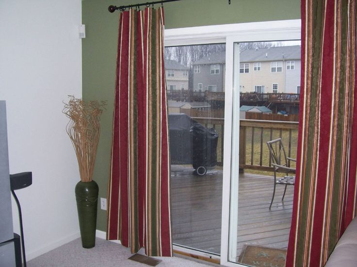 Best Curtains Images On Pinterest Curtains Glass Doors And - Curtains sliding glass doors inspiration