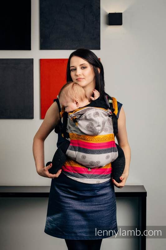 ERGONOMIC CARRIER, JACQUARD WEAVE 100% COTTON - WRAP CONVERSION FROM COFFEE LACE 2.0, SECOND GENERATION