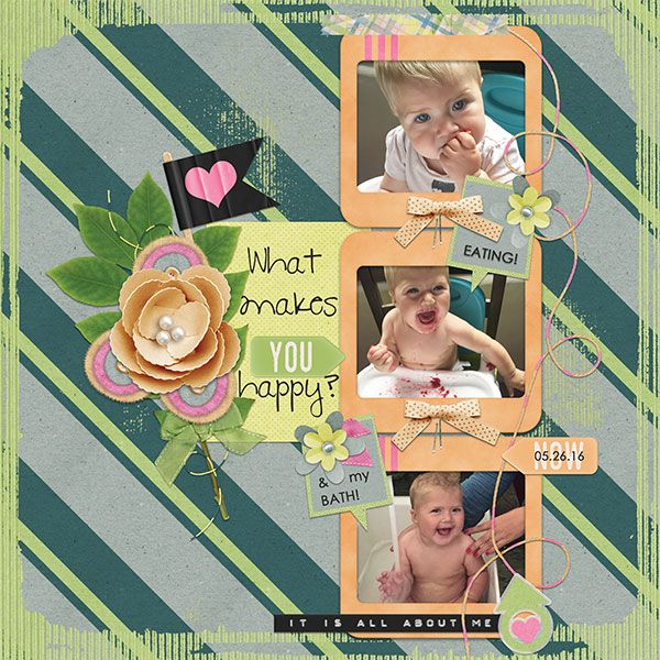 Perfect question for my happy baby photos. Great elements in this kit!