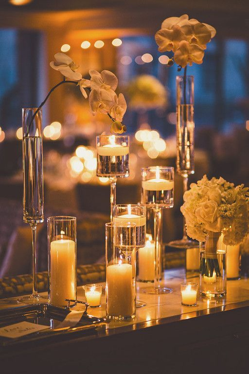 A Stunning Washington DC Wedding from Michael Moss Photography - wedding centerpiece idea with romantic candles