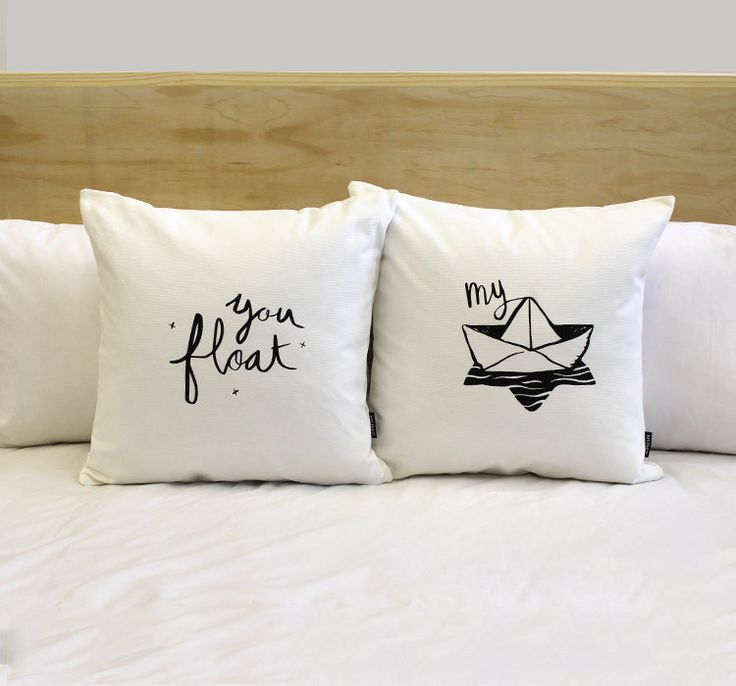 You Float My Boat His and Hers Pillow Covers 18 x by ZanaProducts, $54.00