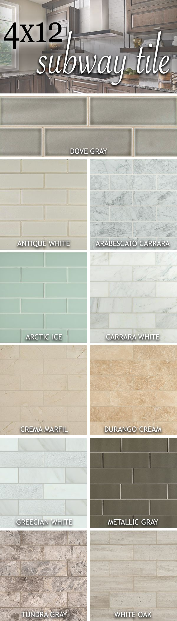 Our 4x12 tiles are giving new life to classic subway! Featuring handcrafted looks, dreamy whites, warm grays, and classic neutrals, our latest oversized subway additions will create the perfect linear look to glam up your space.