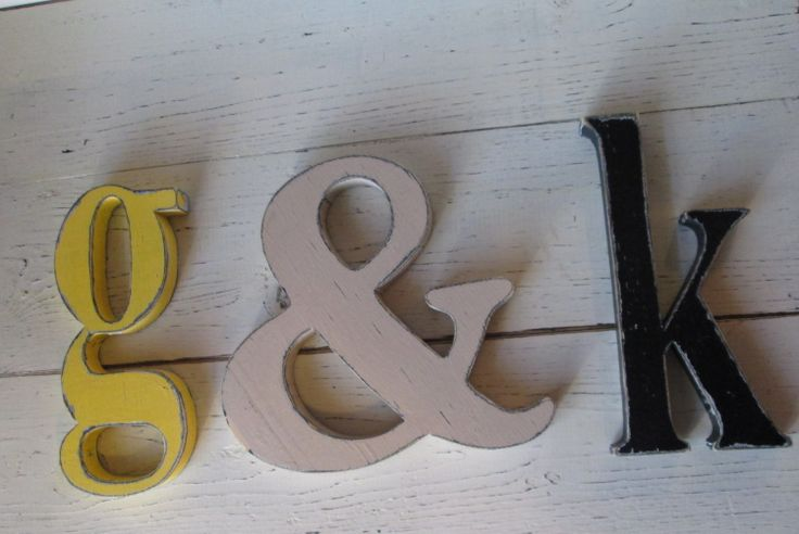 Distressed Wooden Lower Case Letters 8 inch by SouthernMadeSigns, $15.00