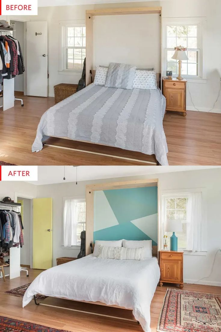Before & After Paint This Easy DIY Headboard Now in 2020