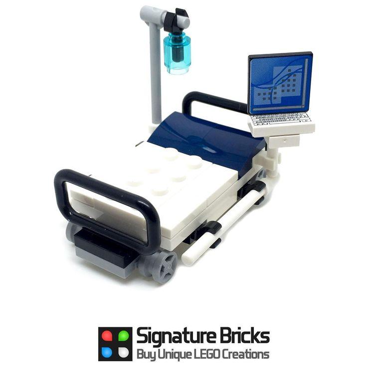 LEGO Hospital Bed for Minifigures Stretcher Doctor Nurse | eBay
