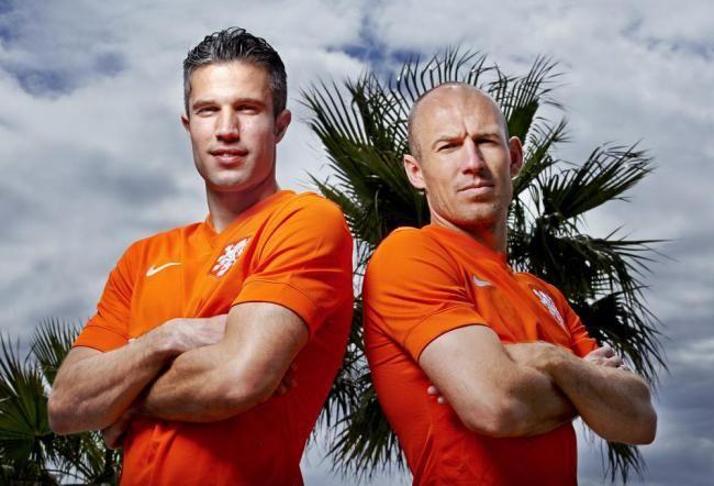 Robin van Persie and Arjen Robben (Holland)