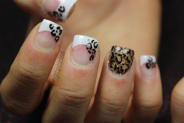 unique cheetah nails ideas