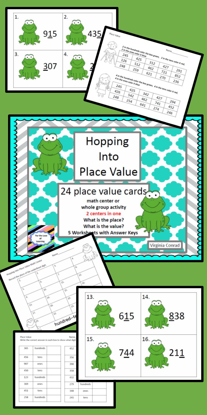 226 best Math Place Value and Number Sense images on Pinterest ...