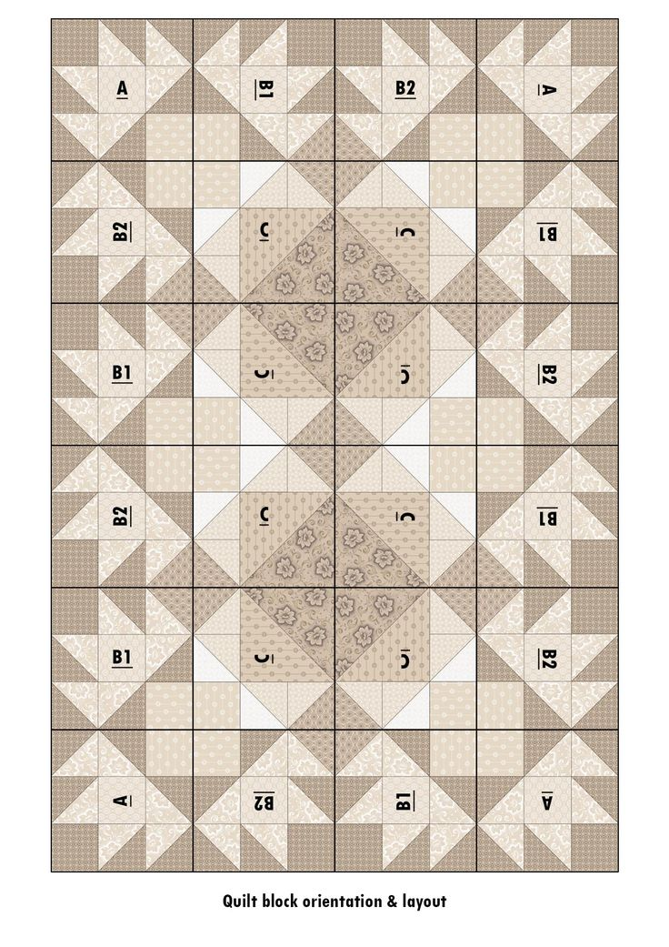 3 Iced Tea Collection Quilt layout