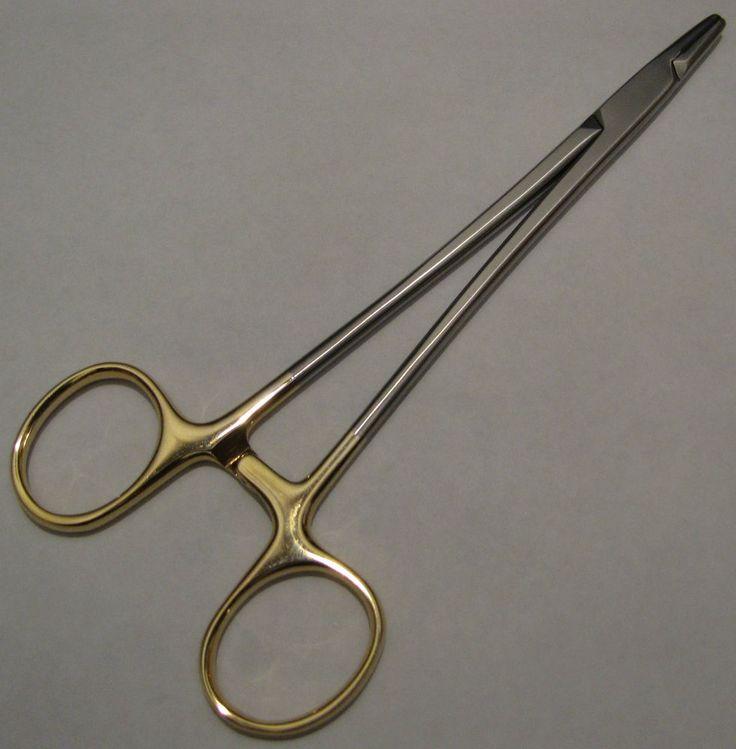 Nadelhalter-Needle holder MAYO HEGAR ,Griff vergoldet,TC (Hartmetalleinlage)24CM