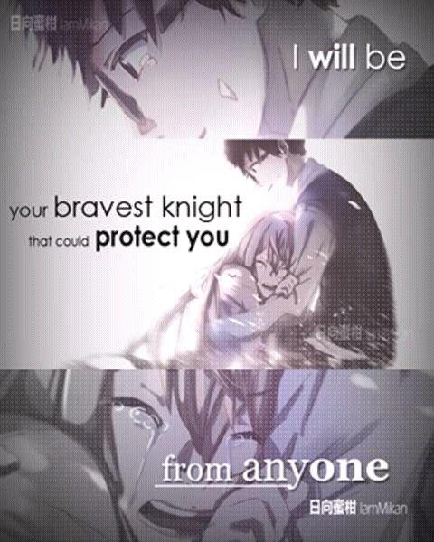Shigatsu wa kimi no uso | Your knight quote