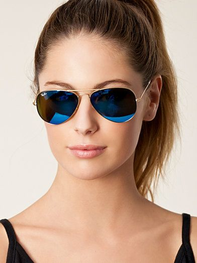 ray ban aviator mercury golden sunglasses  rb 3025 aviator ray ban blue sunglasses accessories women nelly