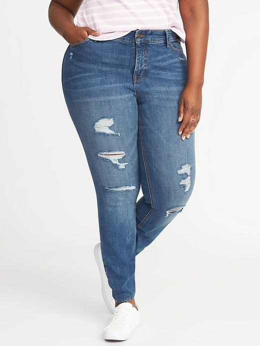 a92cd064384 High-Rise Smooth   Contour Plus-Size Rockstar Jeans. High-Rise Secret-Slim  Pockets Waistband ...