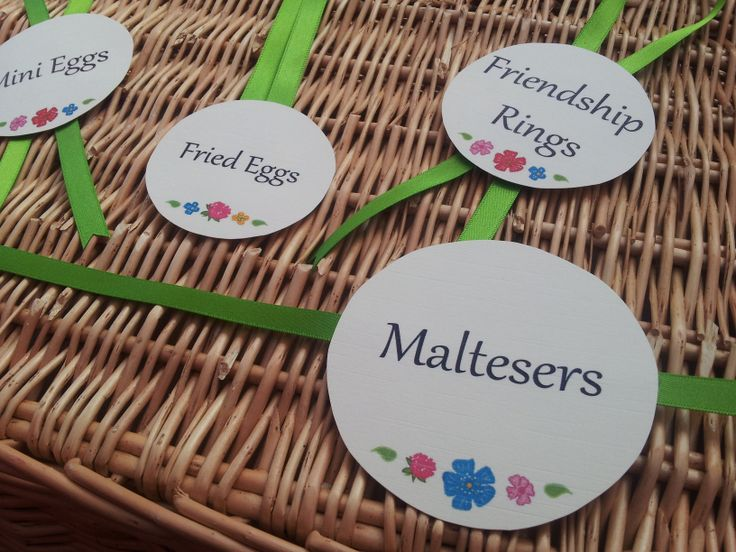 Liberty print inspired sweet table labels