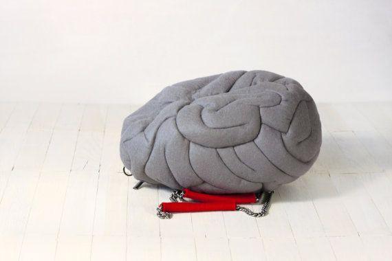 Felt Geek Brain Bag by krukrustudio on Etsy, $150.00