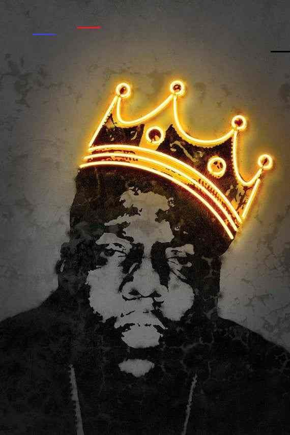 biggie crown box canvas bespoke art