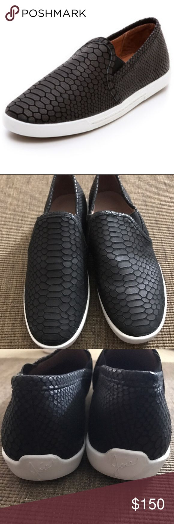 Joie Kidmore Slip On sneaker Black python print New never worn black Joie slip on shoe Faux Python Print. Womens size 38 there is a mark on the back see pic. New with defects  floor model no box Joie Shoes Sneakers