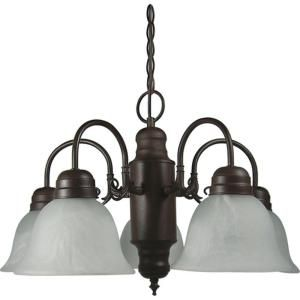 Yosemite 5 Light, 19 in, Hanging Chandelier