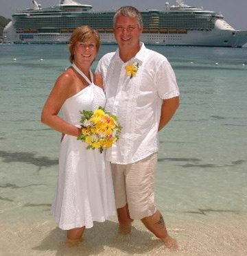 A cruise port can be a perfect place for a second marriage or to renew your vows. second-weddings