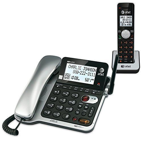 AT&T DECT 6.0 Expandable Corded Cordless Telephone Handset with Answering System #ATT