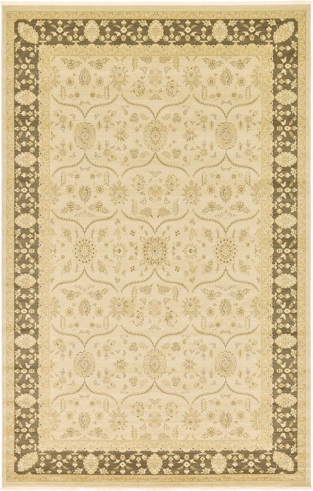 Juniper fern green area rug rugs cream and area rugs for Green and cream rugs