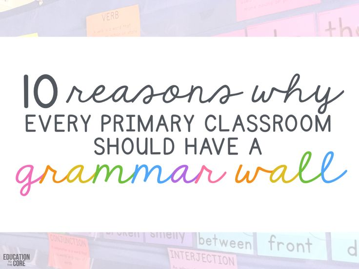 Grammar walls have been all the hype lately. But what's the big deal? Time to stop wondering! Here are 10 reasons why your classroom will benefit from having a grammar wall.