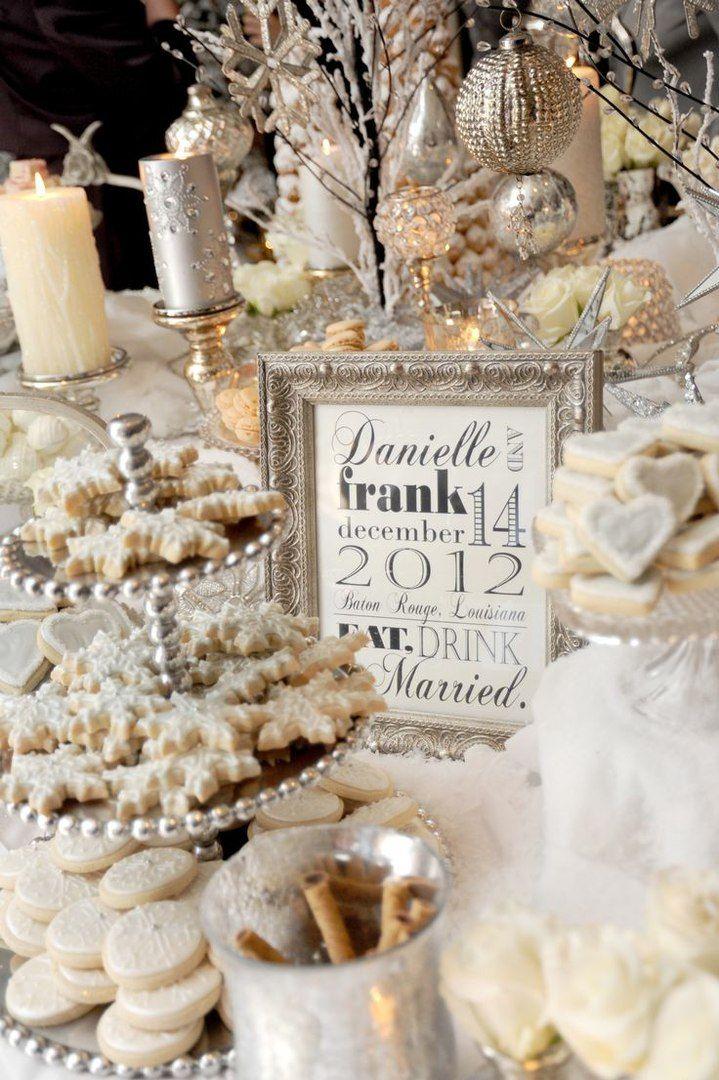 LOVE IS WED Зимняя белая золотая роскошная свадьба банкет свадебные столы декор, Winter white gold wedding Banquet decor gatsby