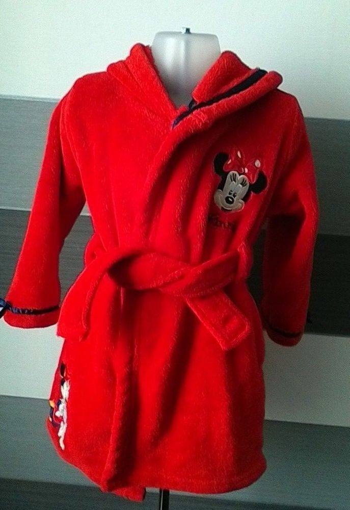 Disney Store Minnie Mouse Dressing Gown Robe 18-24 months  DisneyStore bbdce608e