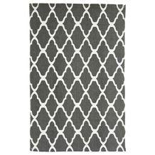Vloerkleed Bombay ruit grijs/wit 60x90 cm