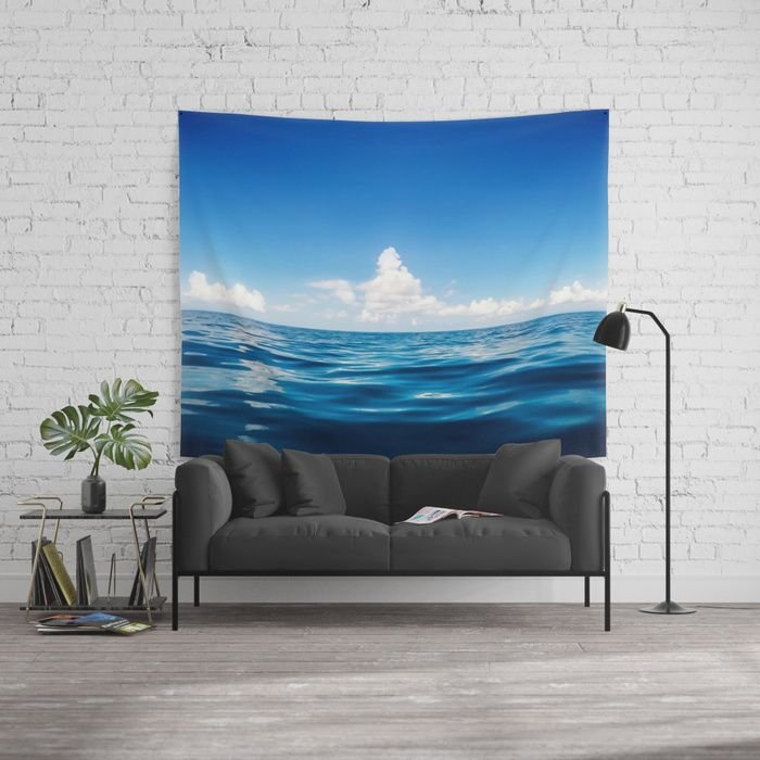 Deep Blue Wall Tapestry by Nicklas Gustafsson #ocean #sea #water #waterphotography #travel #adventure #serenity #clouds #waterscape #tapestry