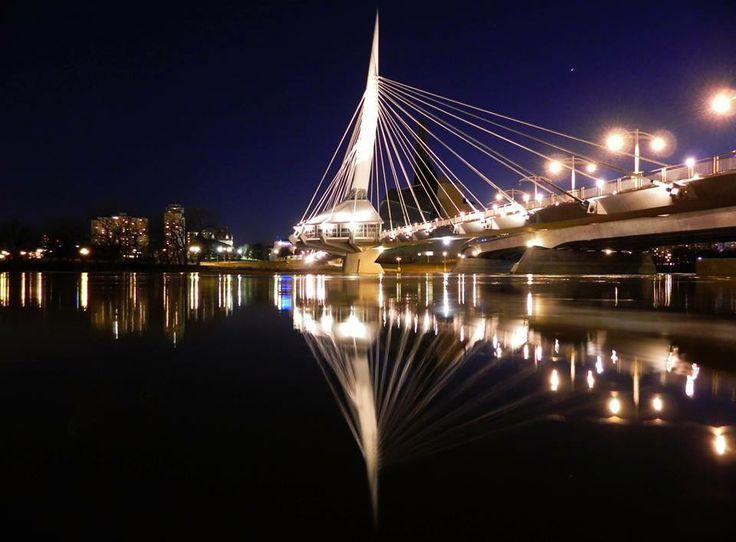 Esplanade Provencher Bridge in Winnipeg Manitoba