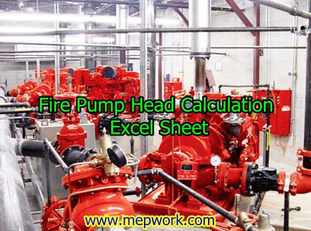 Download Calculation Sheet For Fire Finding Pump Head Calculation