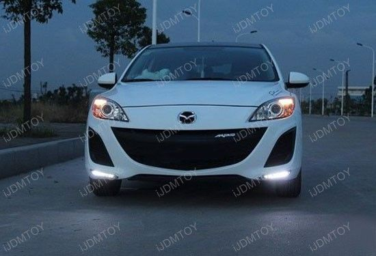 Today's car is this 2011 Mazda3 with very cool and stylish exact fit Mazda3 LED Daytime Lights. Ain't it a beauty? With a set of Xenon White 7-LED high power LED daytime running light lamps this ride makes strong impression! What's more, this product is water resistant and comes with auto on/off module box! Anyway, if you want to achieve this one-off look, then ... @ http://ijdmtoy.com/BLOG/wordpress/2013/03/14/2011-mazda3-upgraded-with-mazda3-led-daytime-running-lights/
