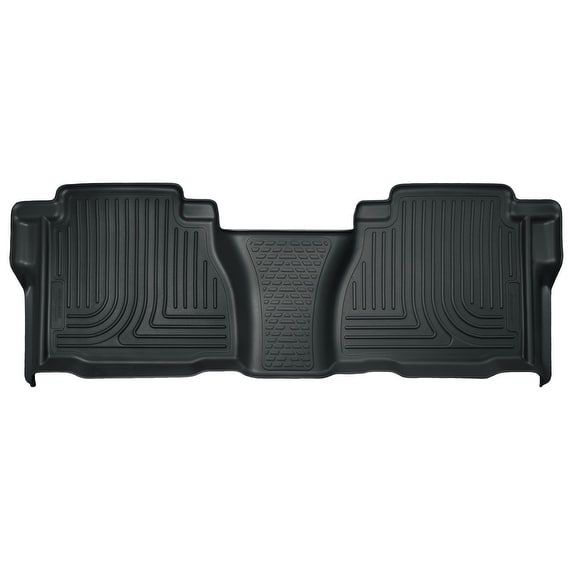Husky Weatherbeater 2007-2013 Toyota Tundra DoubleCab/CrewMax 2nd Row Grey Rear Floor Mats/Liners